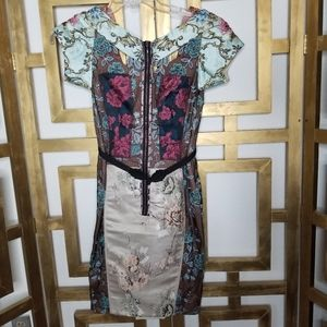 Anthro Byron Lars Beguile Pieced Brocade Dress 0P